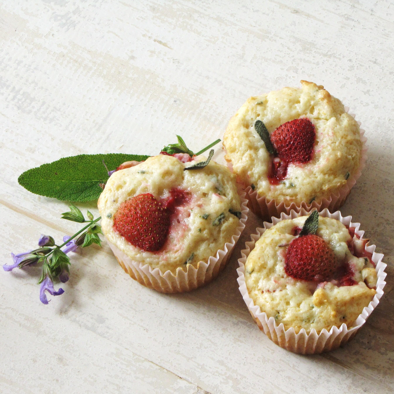 Strawberry Sage Muffins Katie At The Kitchen Door