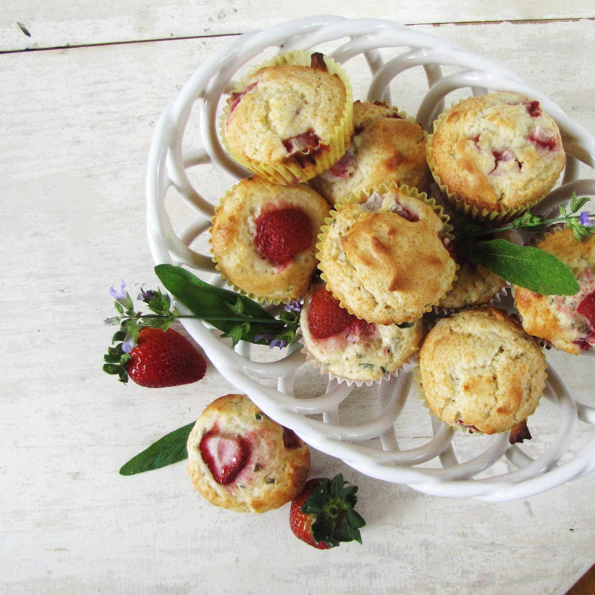 Strawberry-Sage Muffins