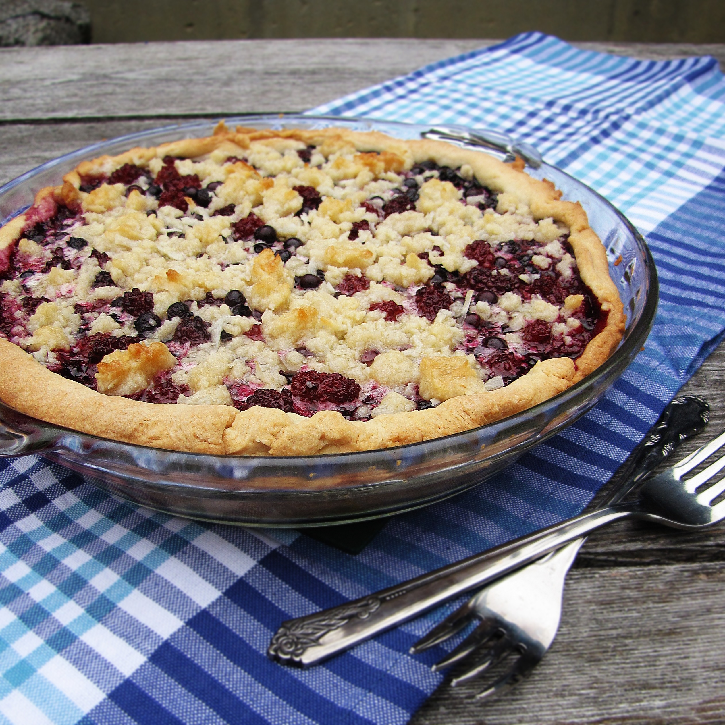 Good ol' Blueberry-and-Coconut Pie