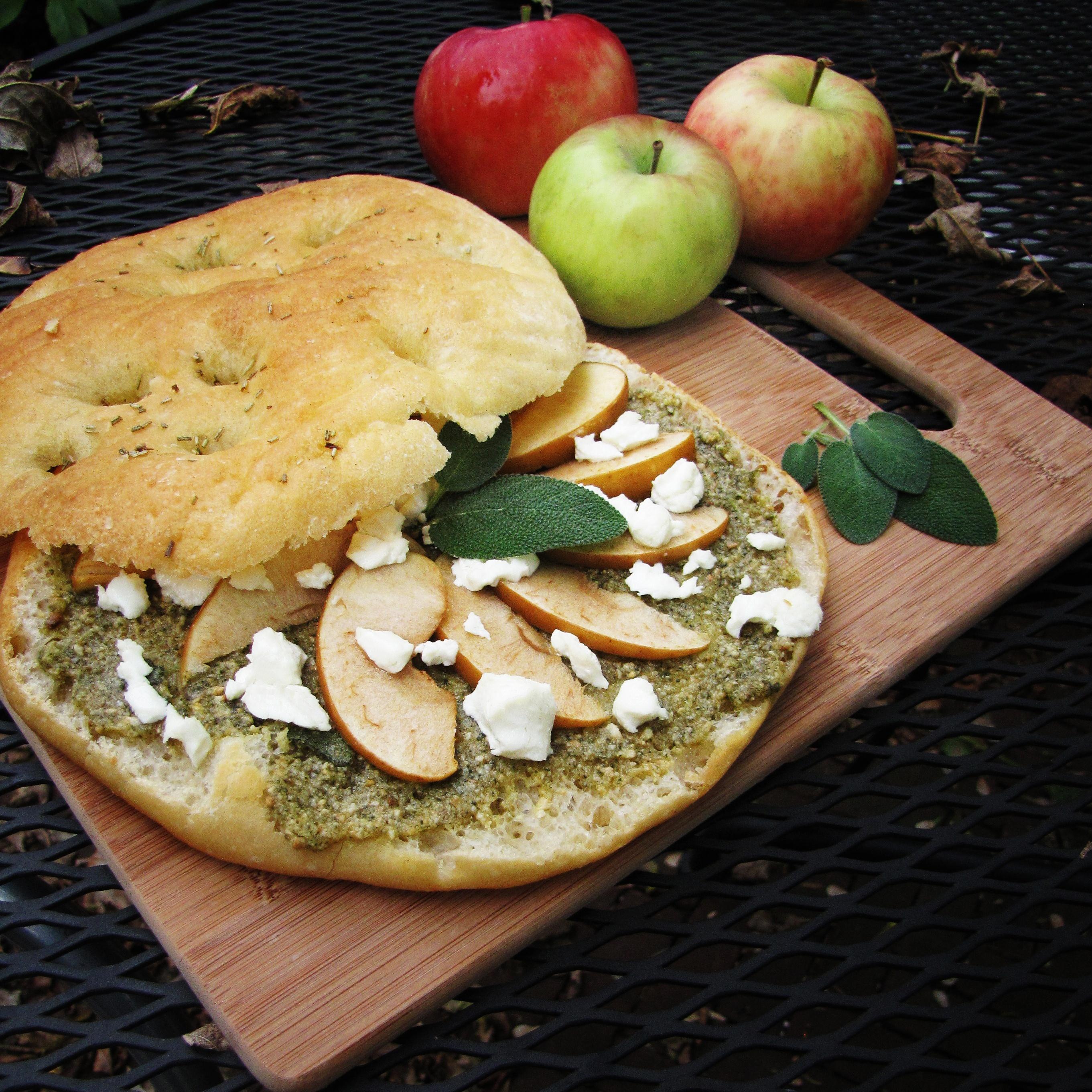 Sage Pesto, Apples, and Fall