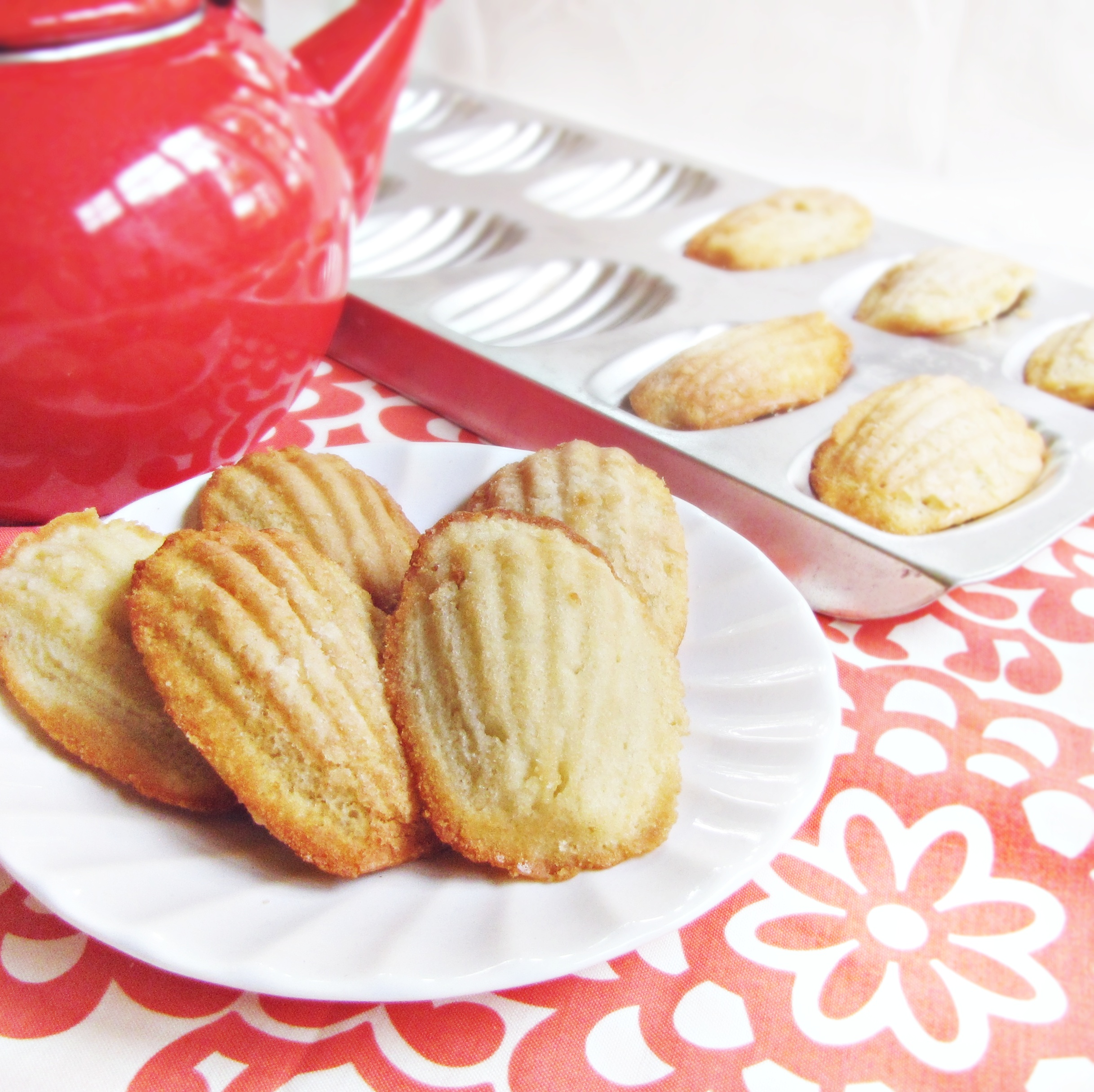 Apple and Honey Madeleines