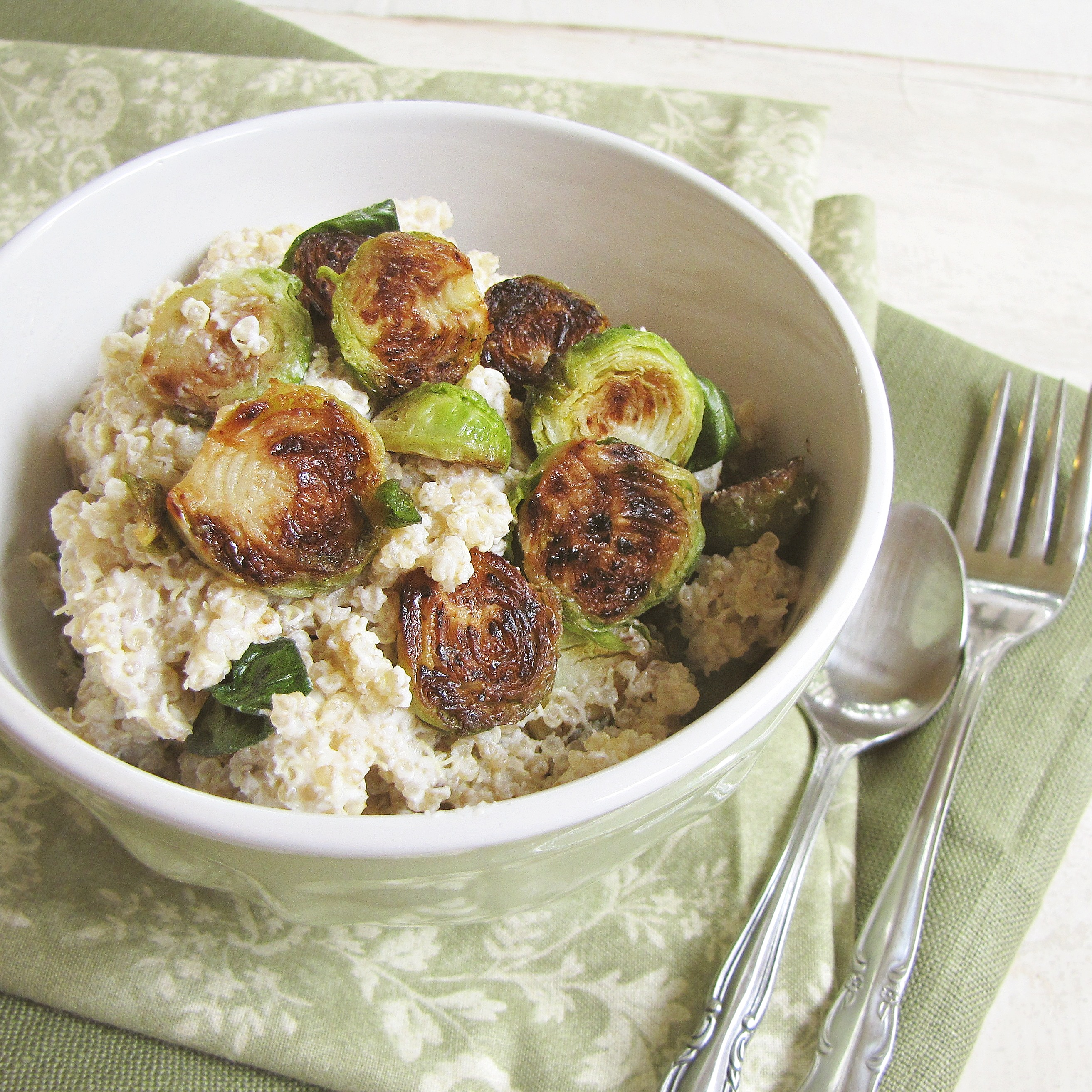 Quinoa and Brussel Sprout Primavera