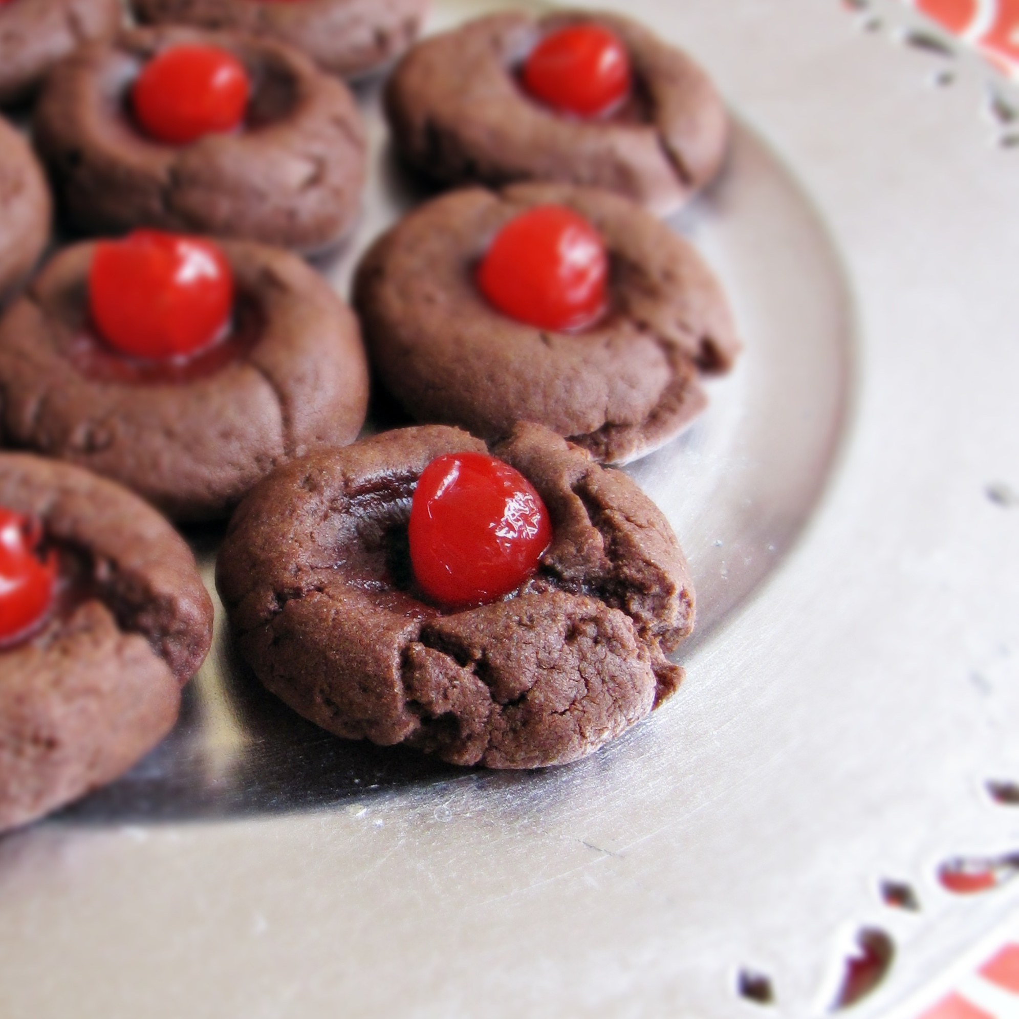 Chocolate-Covered-Cherry Cookies - Katie at the Kitchen Door