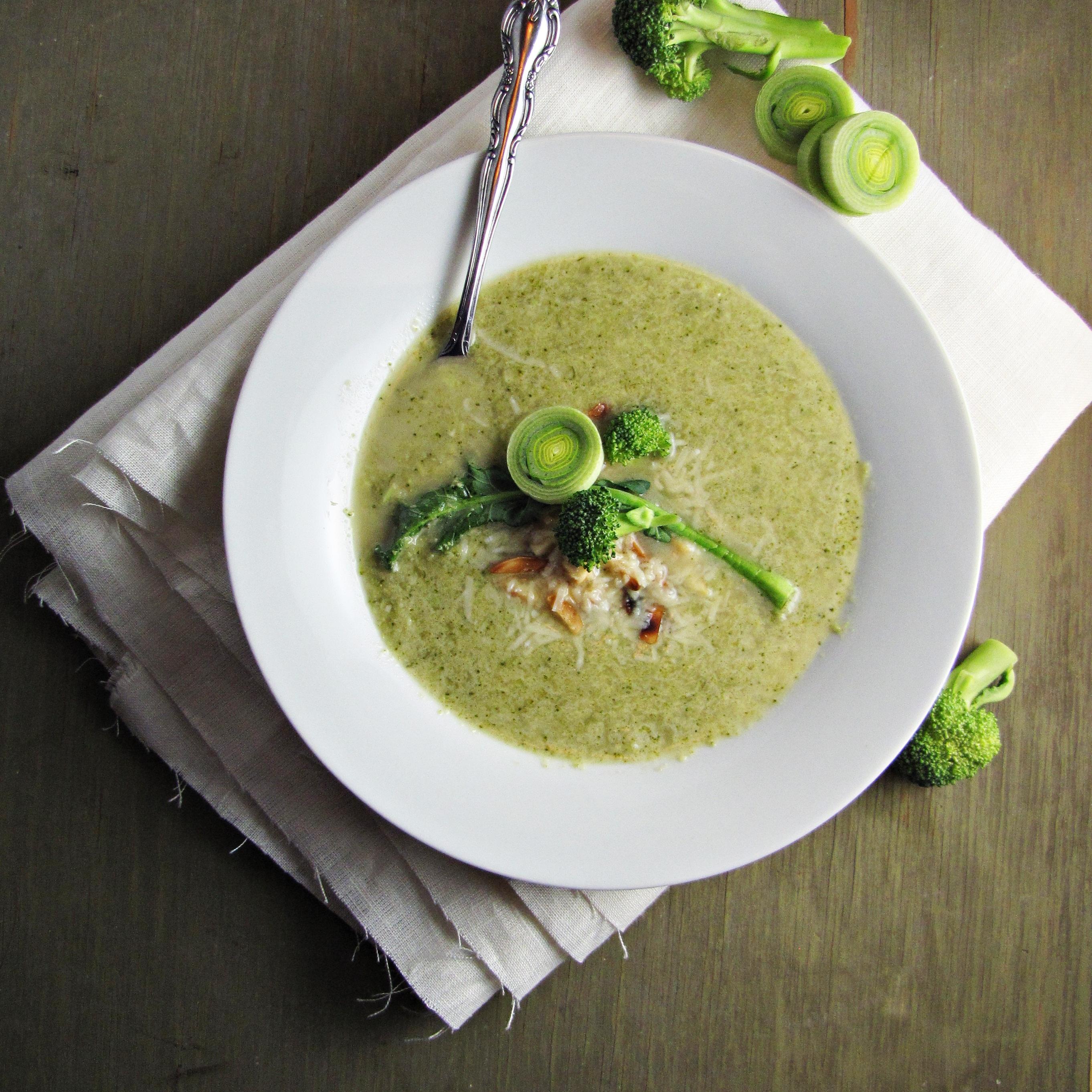 Broccoli and Edamame Soup