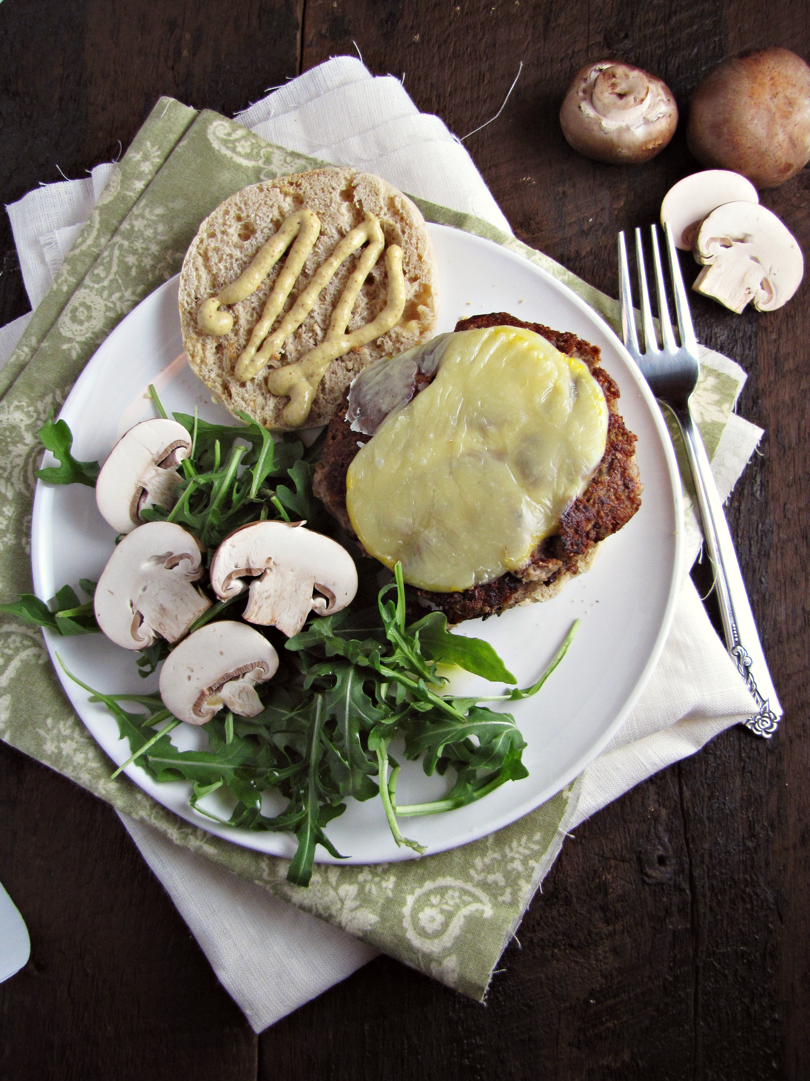 Greatist Collaboration: Mushroom and Olive Veggie Burgers