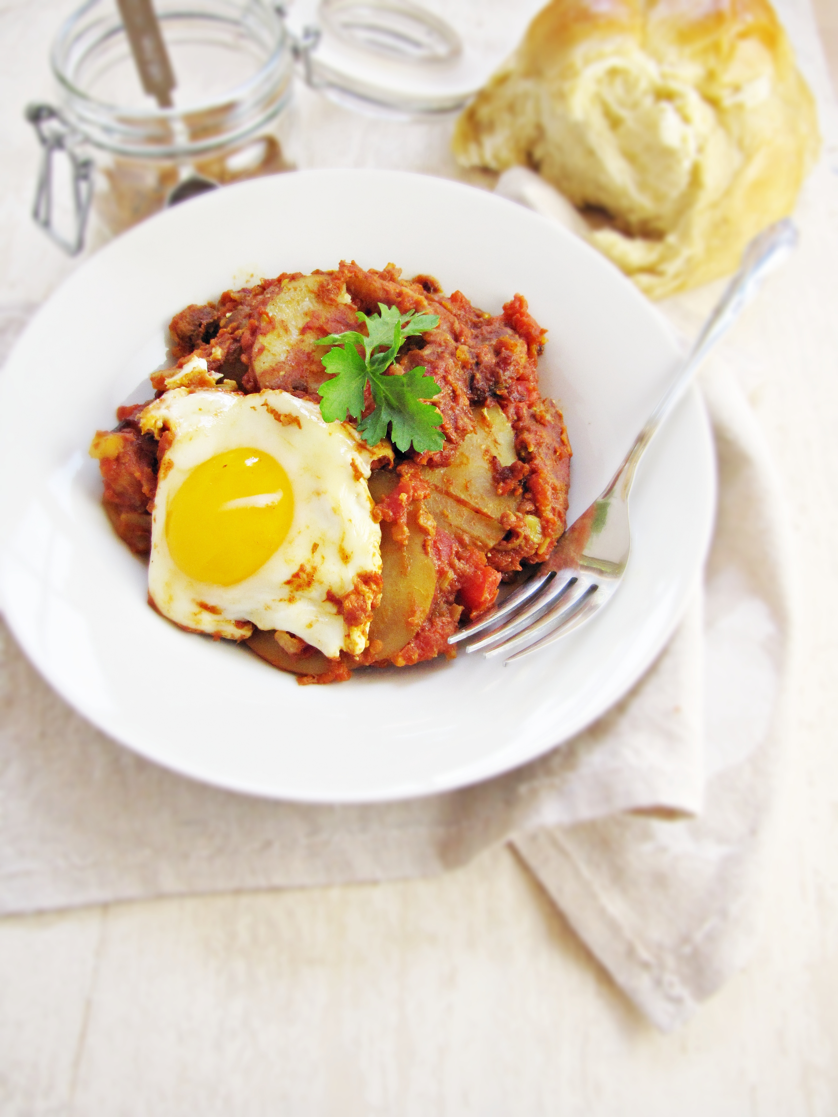 Greatist Collaboration: Shakshuka with Sausage and Potatoes