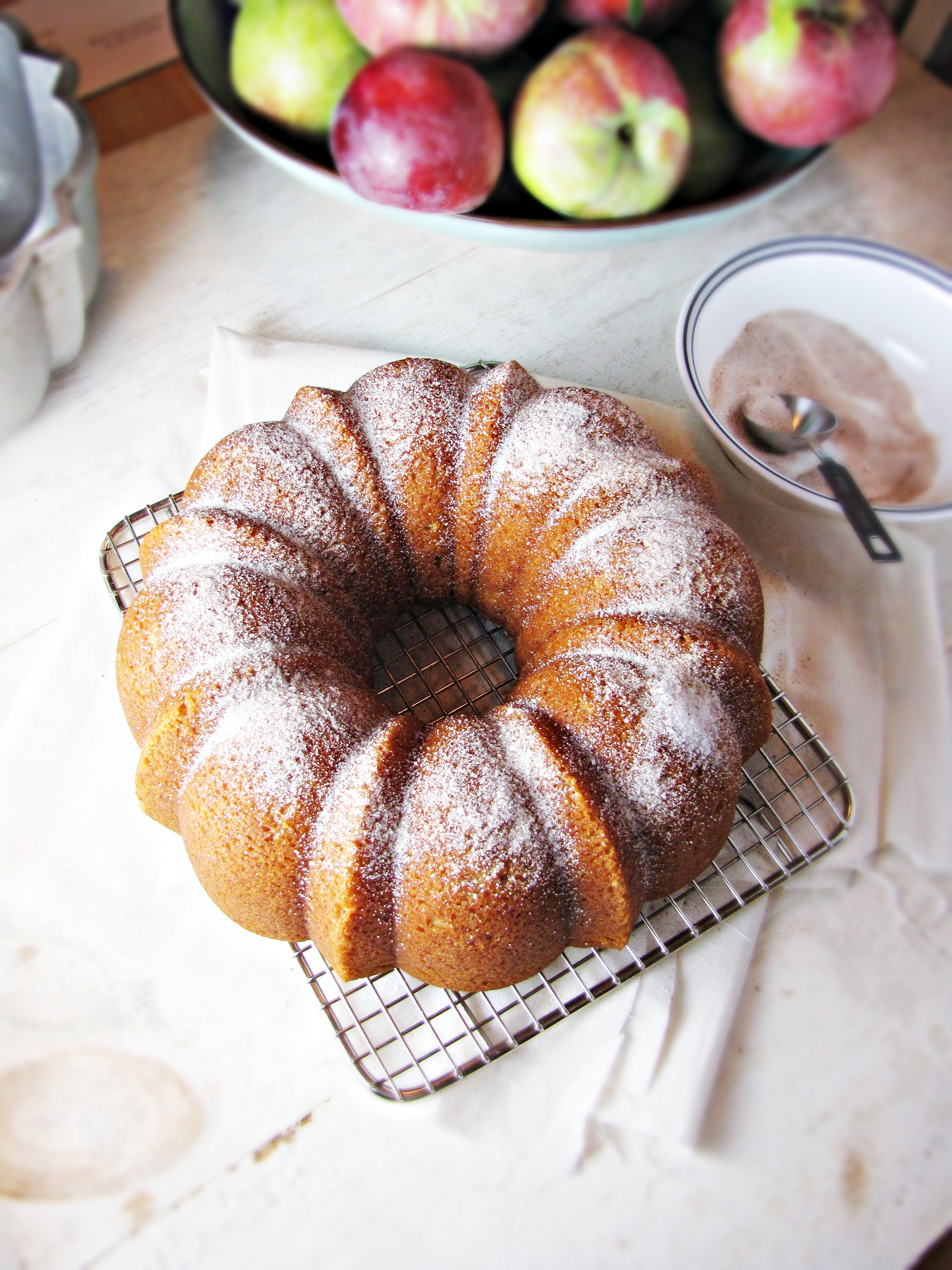 Cooking Fall & Apple Cider Doughnut Cake