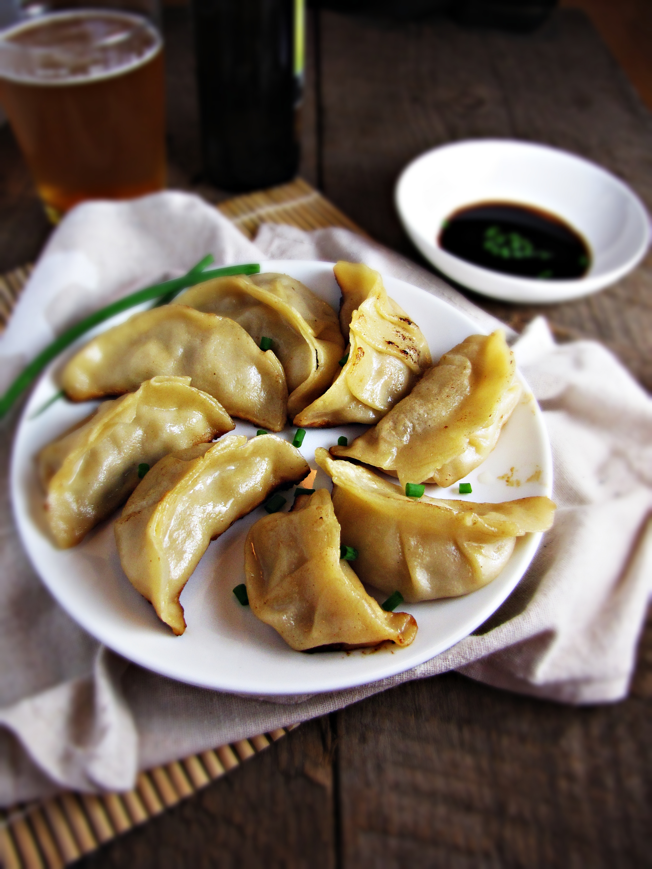 Homemade Pork and Apple Potstickers