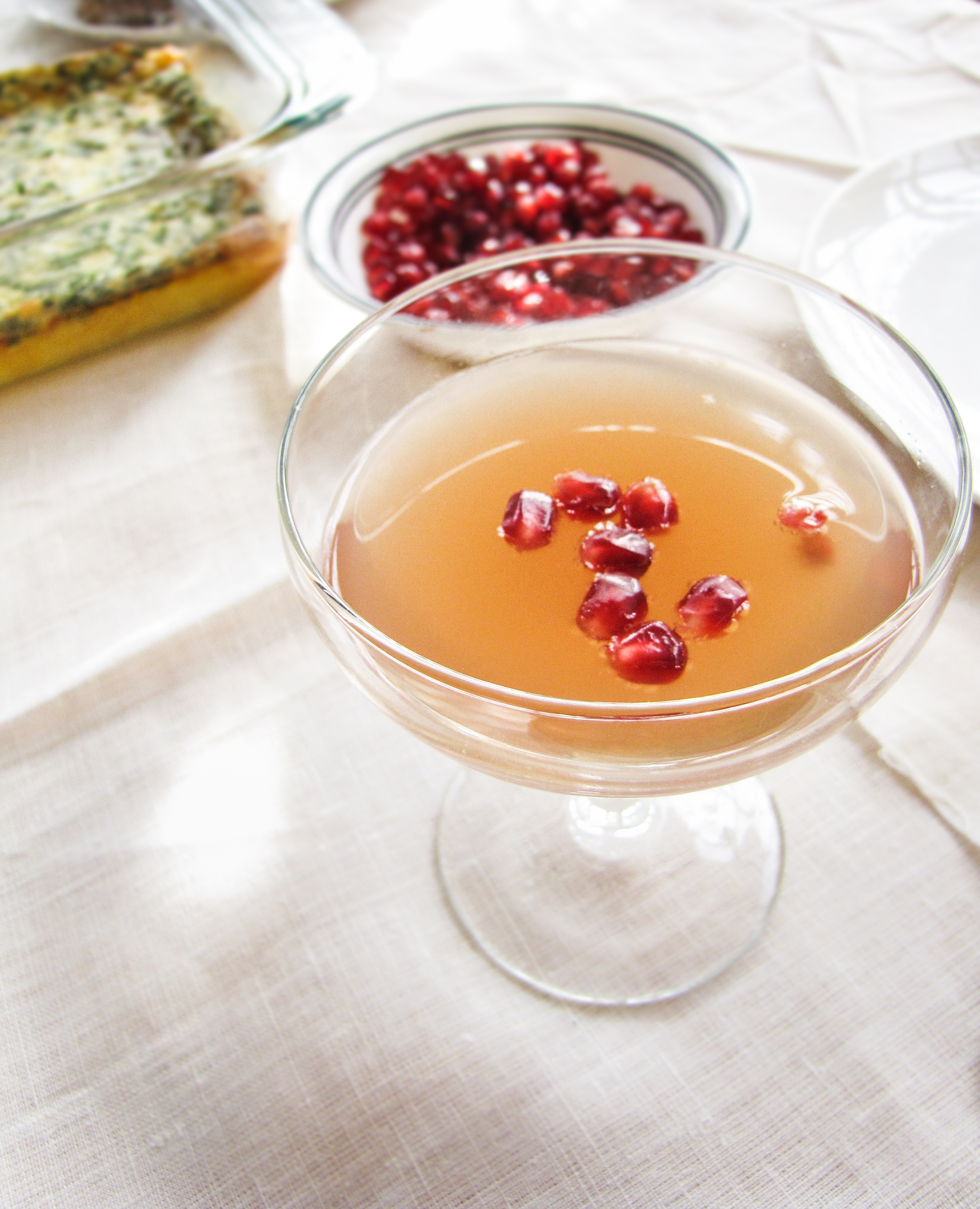 Pomegranate Mimosas for Christmas Morning {Katie at the Kitchen Door}