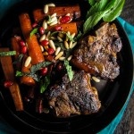 Pomegranate-Glazed Lamb Chops