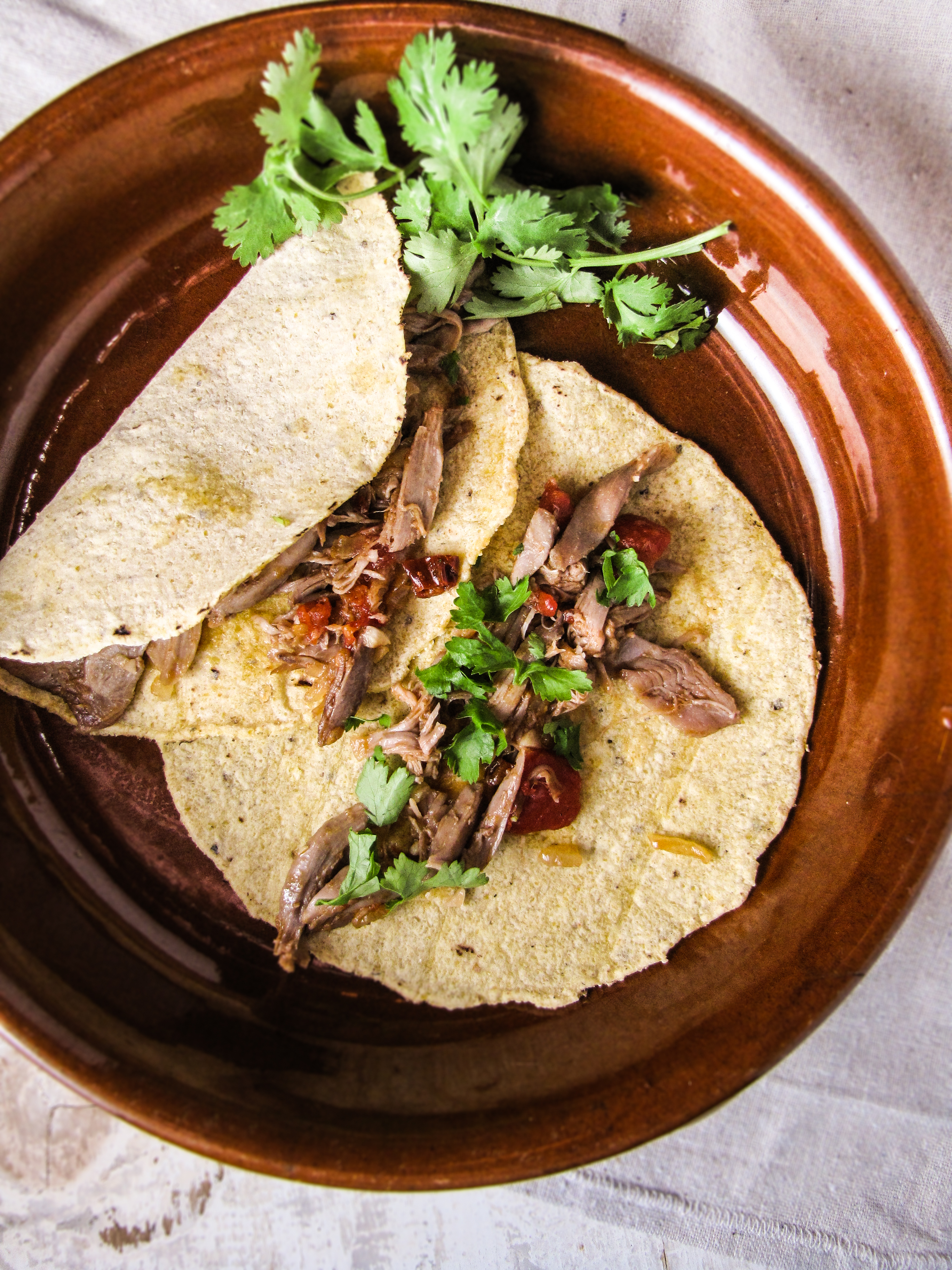 Duck Tacos in Habanero Cream Sauce {Katie at the Kitchen Door}