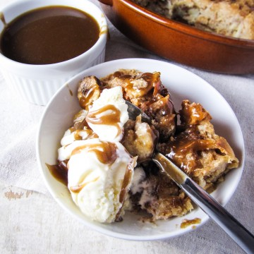 Caramel-Banana Bread Pudding {Katie at the Kitchen Door}