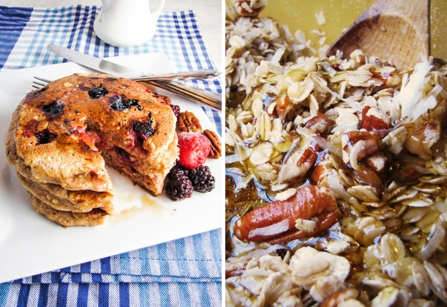 Winter Cleanse Week Two - Fruit and Nut Pancakes, Granola