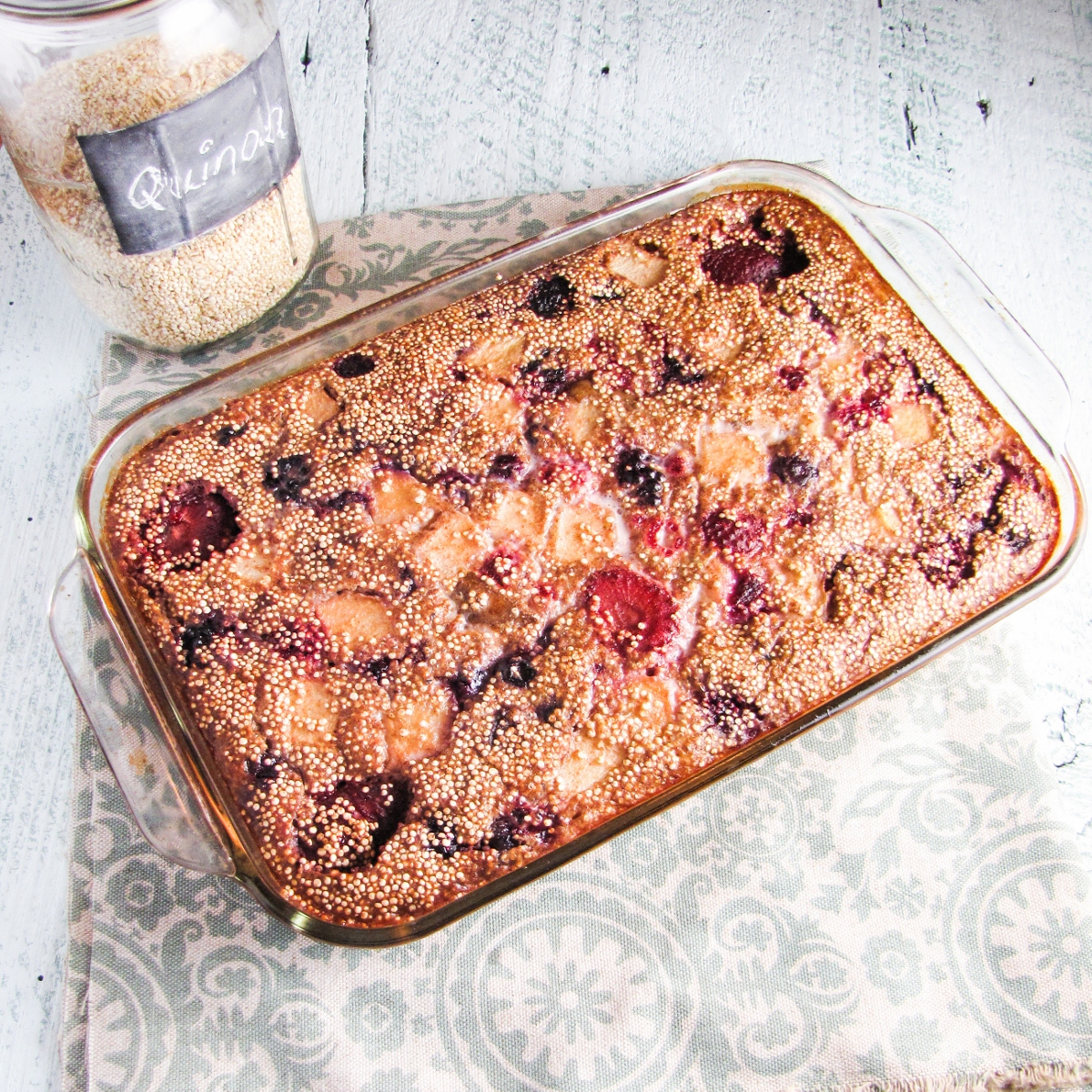 Greatist Collaboration: Quinoa Breakfast Bake | Katie at the Kitchen ...