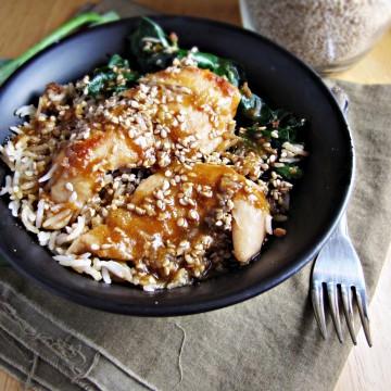 Sesame Chicken Bowl {Katie at the Kitchen Door}