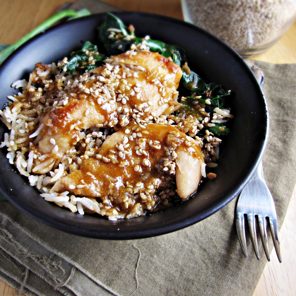 Sesame Chicken Bowl {Katie at the Kitchen Door}