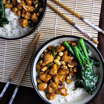 Gong Bao Chicken with Peanuts {Katie at the Kitchen Door}