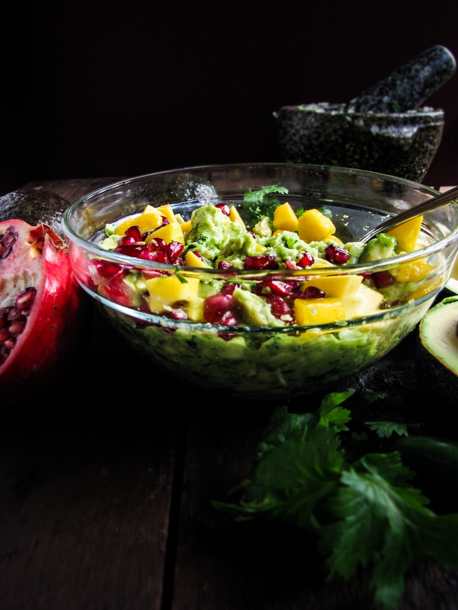 Mango-Pomegranate Guacamole {Katie at the Kitchen Door}