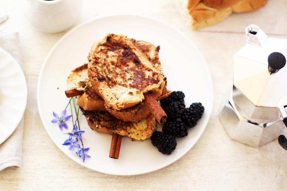 Cinnamon Brioche French Toast Skewers {Katie at the Kitchen Door}