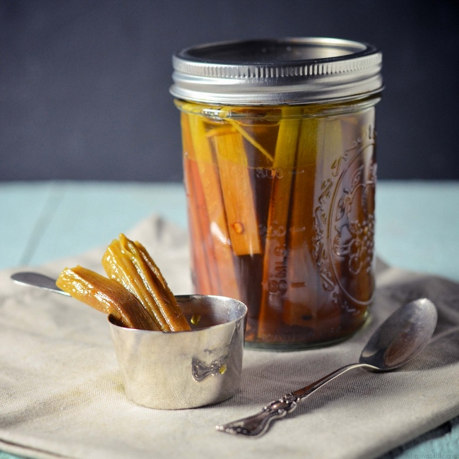 Ingredient of the Week: Rhubarb // Rhubar Round-Up - Indian-Style Sweet and Sour Rhubarb Pickles from A Brown Table