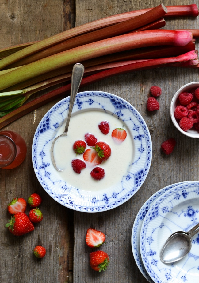 Ingredient of the Week: Rhubarb // Rhubarb Round-Up - Rhubarb and Buttermilk Bowl from A Tasty Love Story