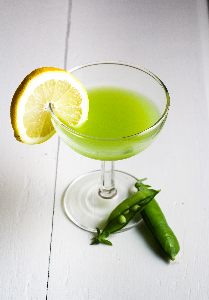 Ingredient of the Week: English Peas // Green Pea Rum Cooler {Katie at the Kitchen Door}