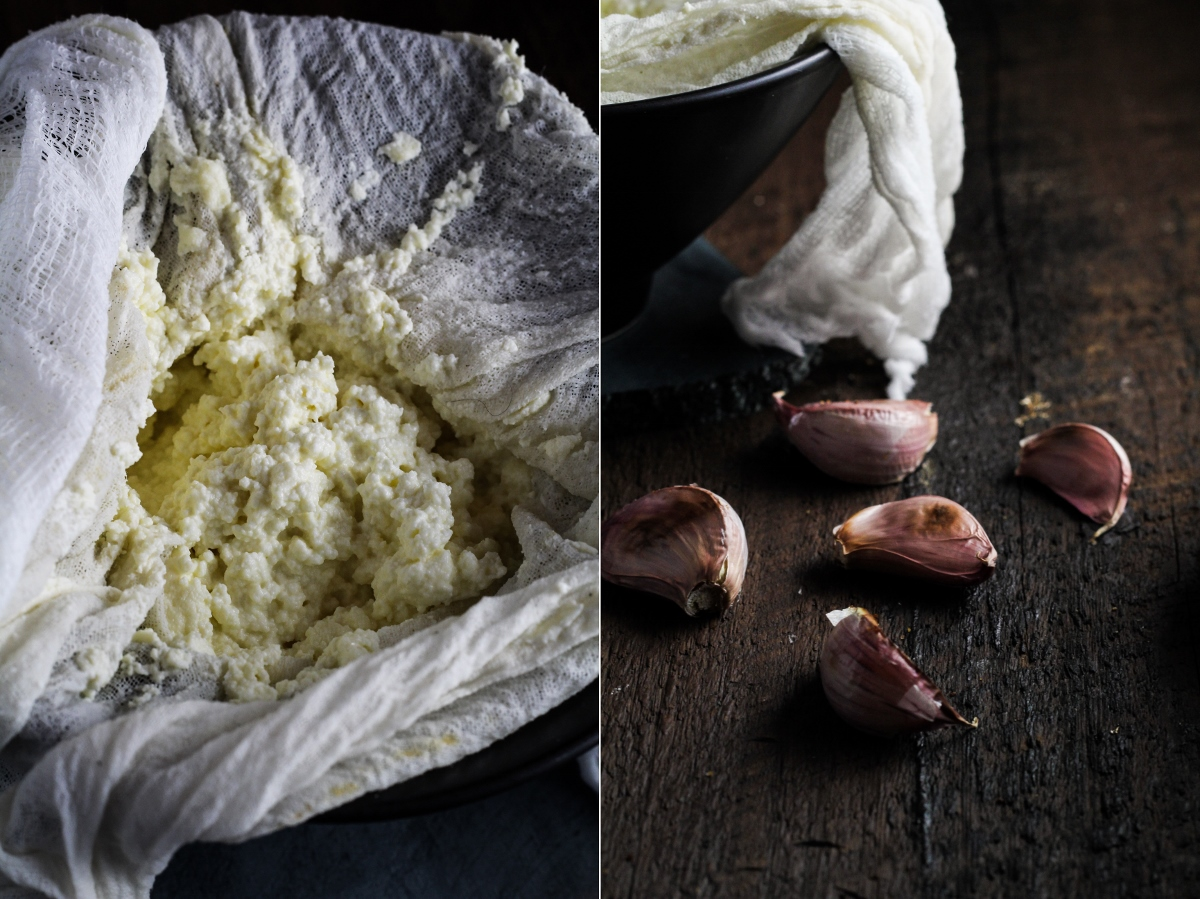 Homemade Roasted Garlic Ricotta {Katie at the Kitchen Door}