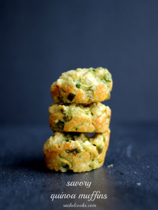Ingredient of the Week: English Peas // Savory Quinoa Muffins with Peas and Spinach from Rachel Cooks