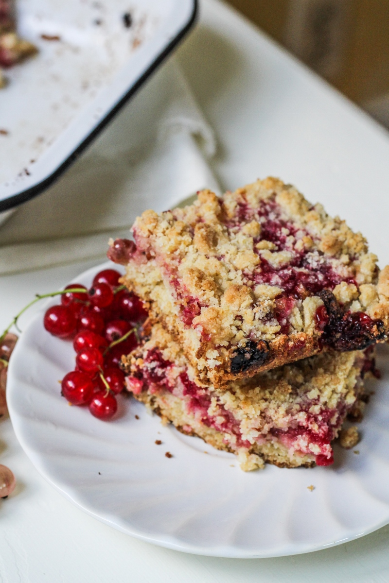Red Currant Crumb Bars {Katie at the Kitchen Door}