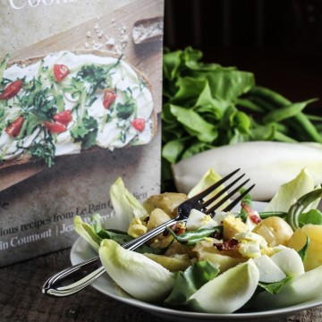 Liegeoise Salad - Endive, New Potato, Green Bean, Egg, and Bacon {Katie at the Kitchen Door}