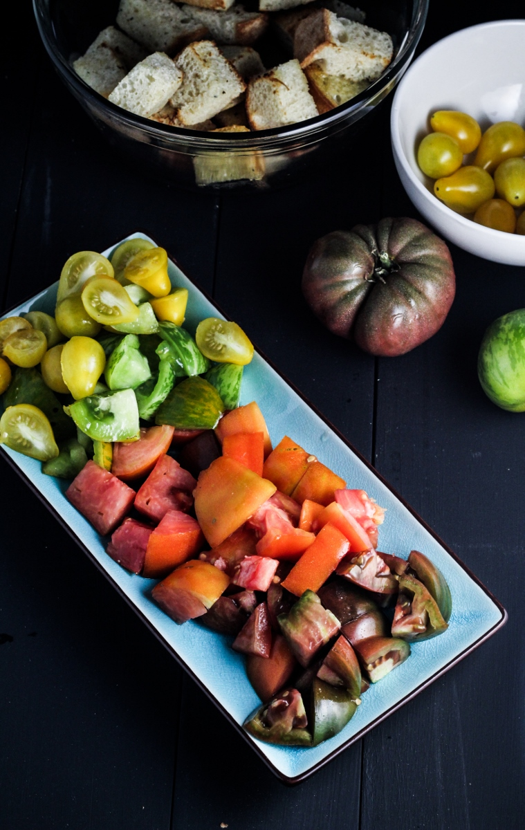 Heirloom Tomato Panzanella {Katie at the Kitchen Door}