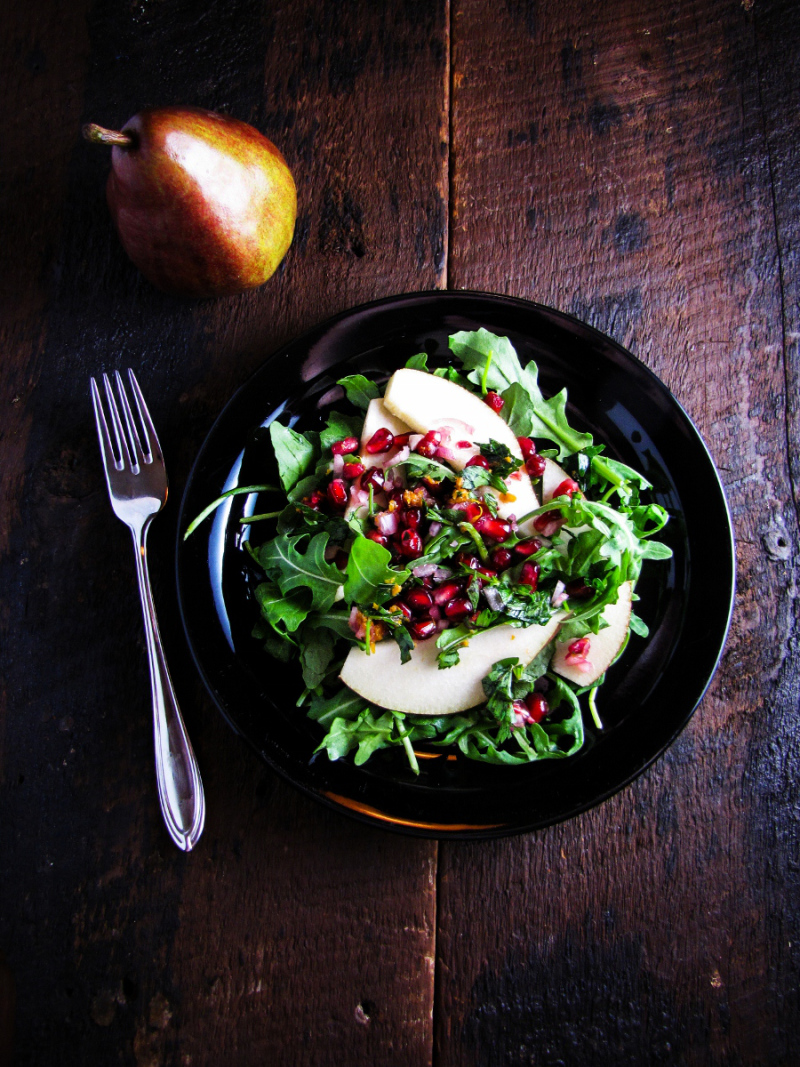 15 Favorite Fall Recipes - Pear and Pomegranate Salad