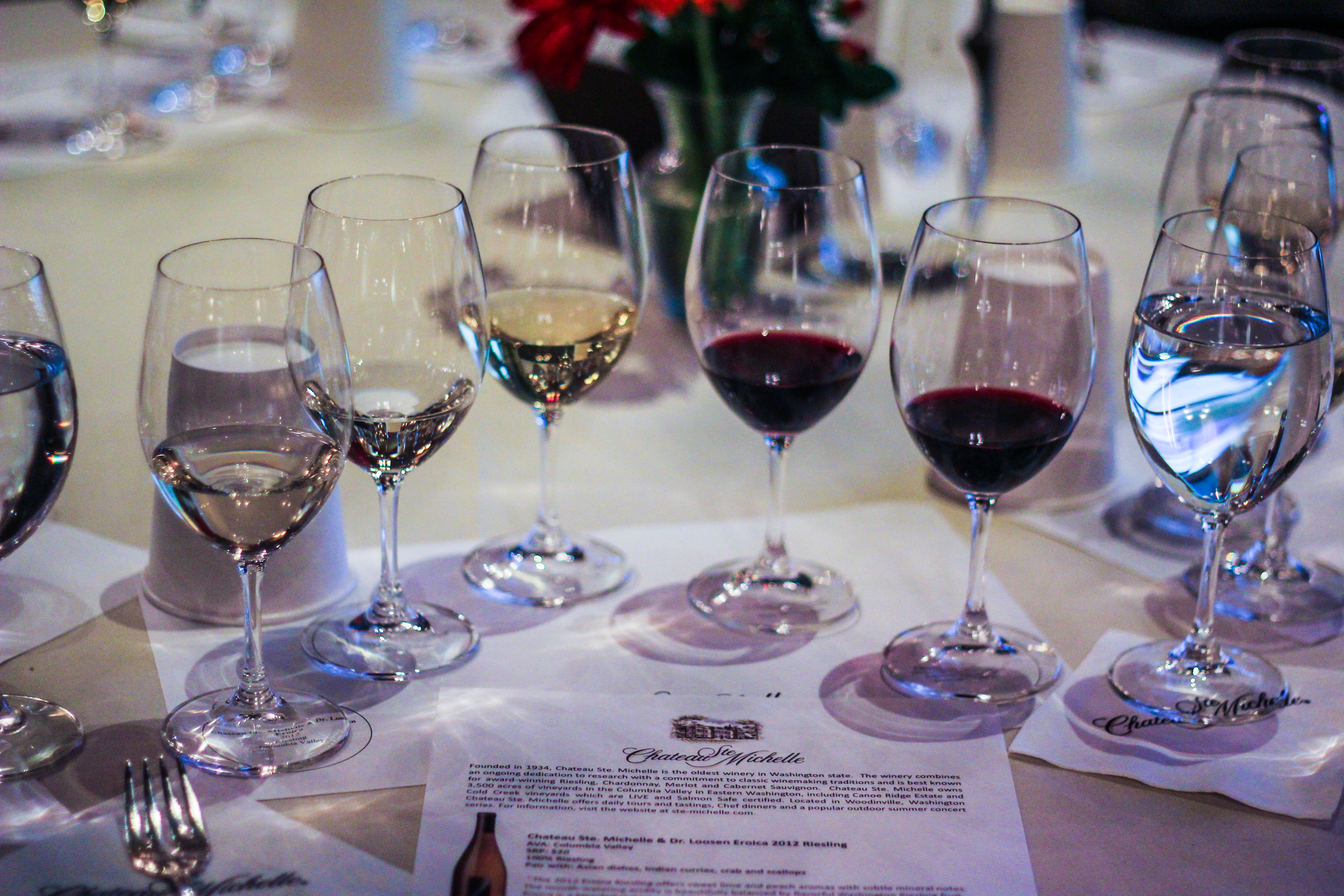Wine Tasting at Chateau Ste Michelle - IFBC 2013