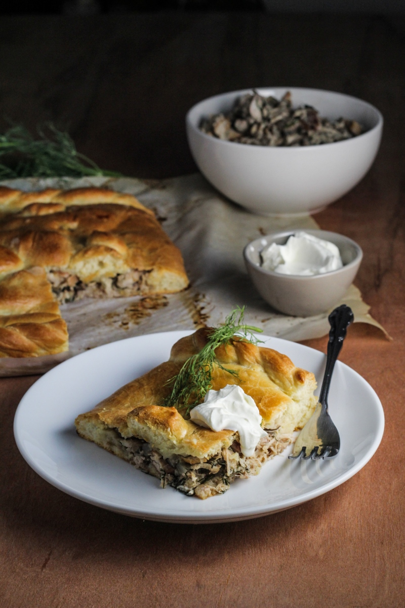 Russian Rabbit and Mushroom Pie {Katie at the Kitchen Door}