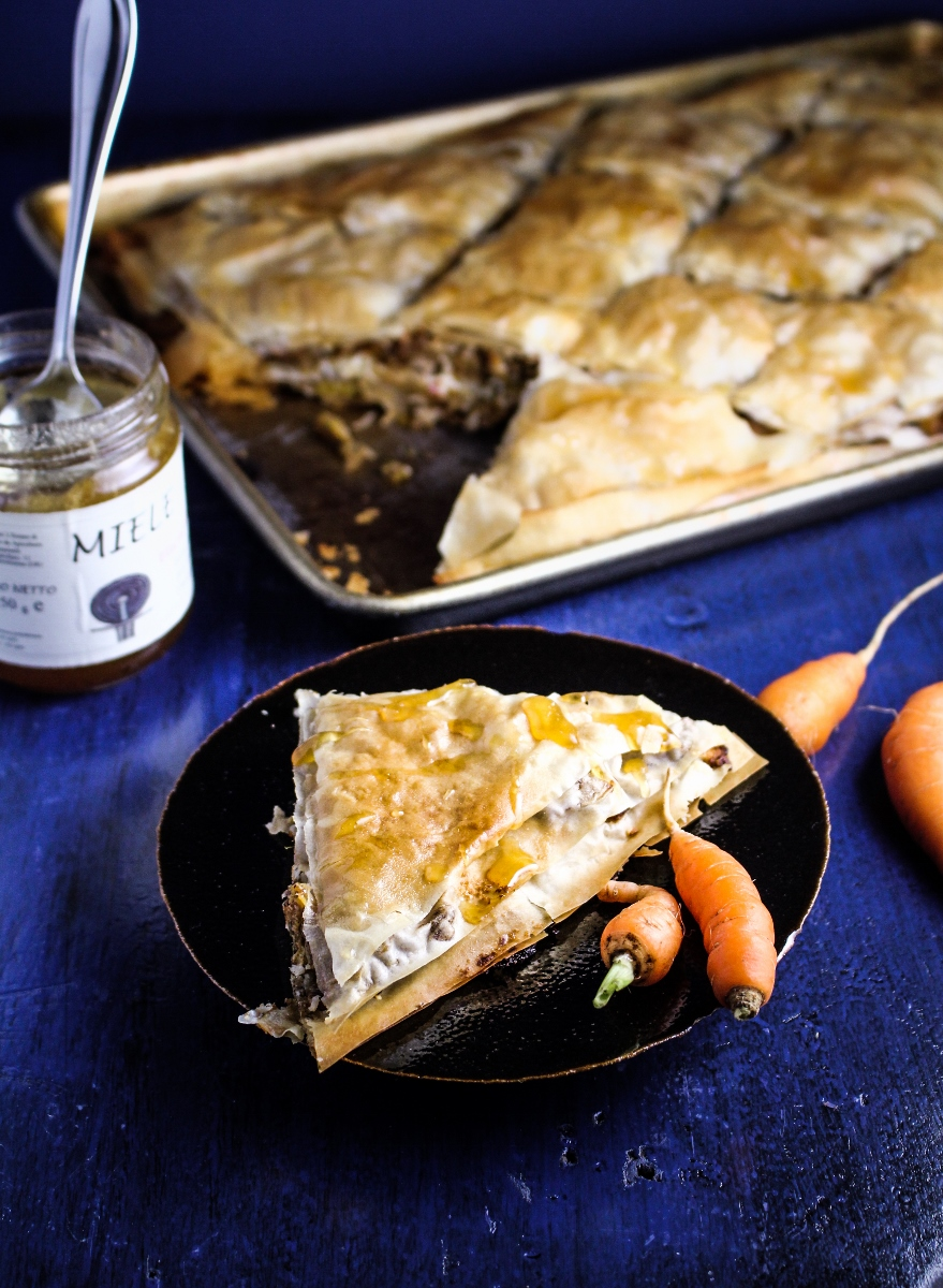 Ingredient of the Week: Carrots // Savory Carrot, Feta, and Almond Baklava