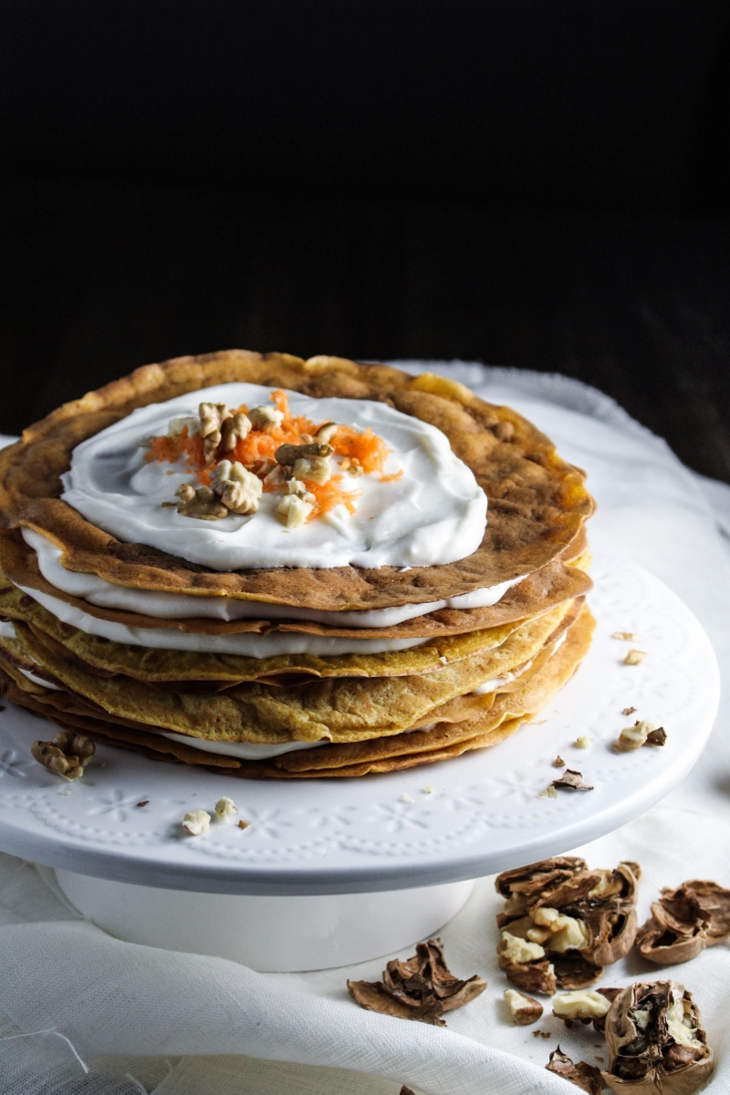 Ingredient of the Week: Carrots // Carrot Cake Crepe Cake