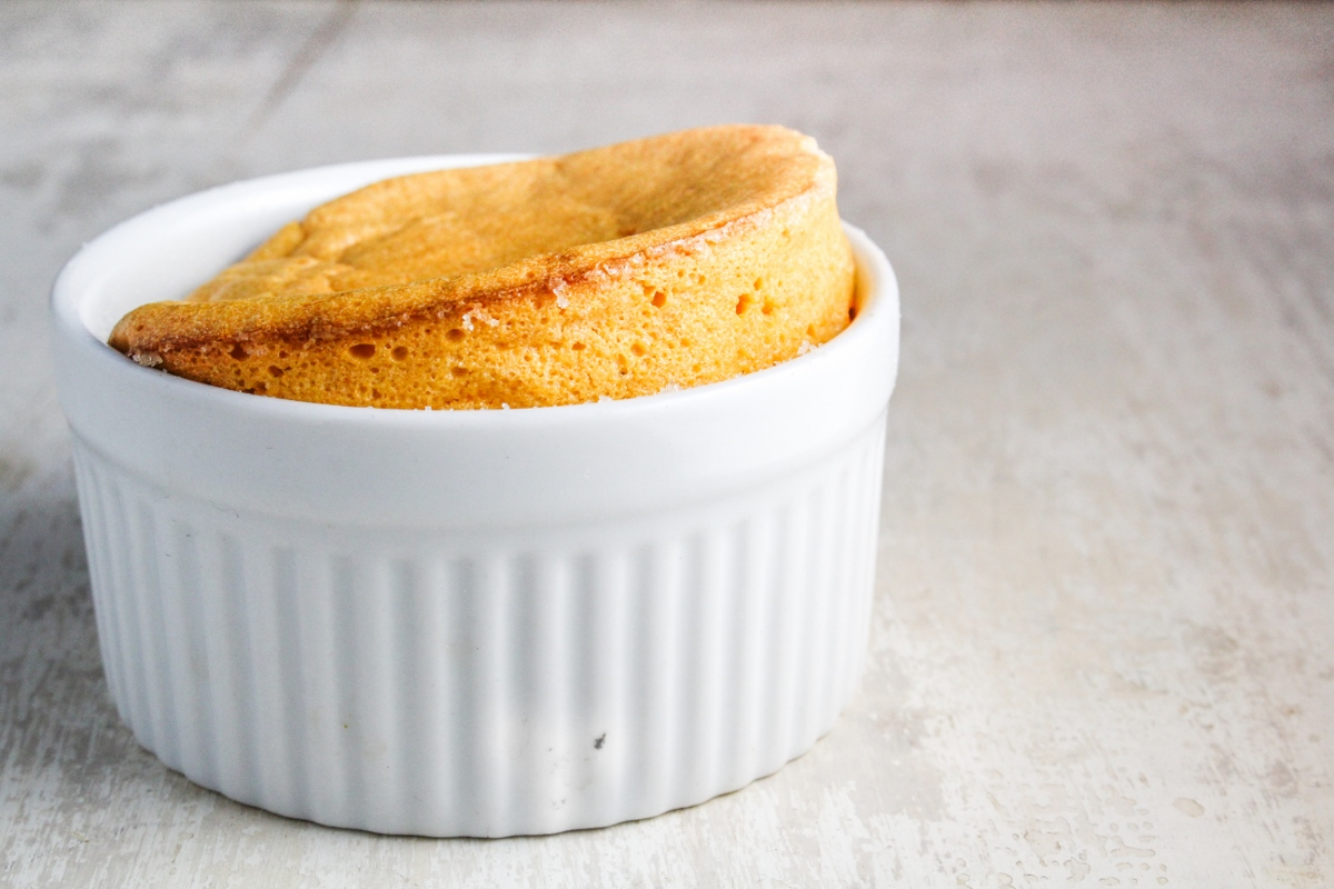 Sweet Potato Souffles with Rum Raisin Sauce #CaptainsTable #Thanksgiving {Katie at the Kitchen Door}