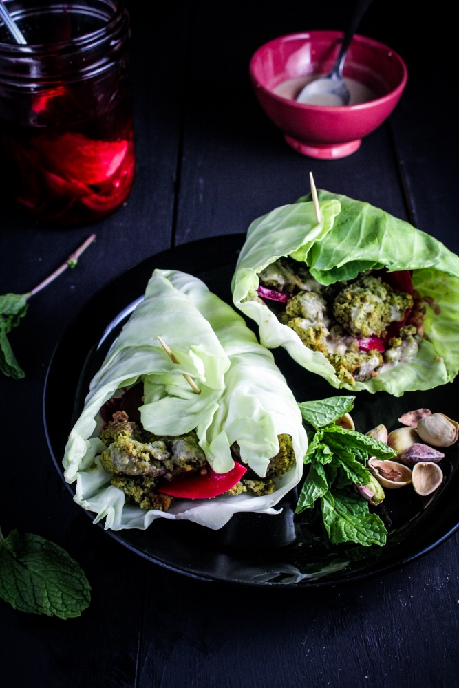10 Healthy Winter Recipes - Baked Herb and Pistachio Falafel