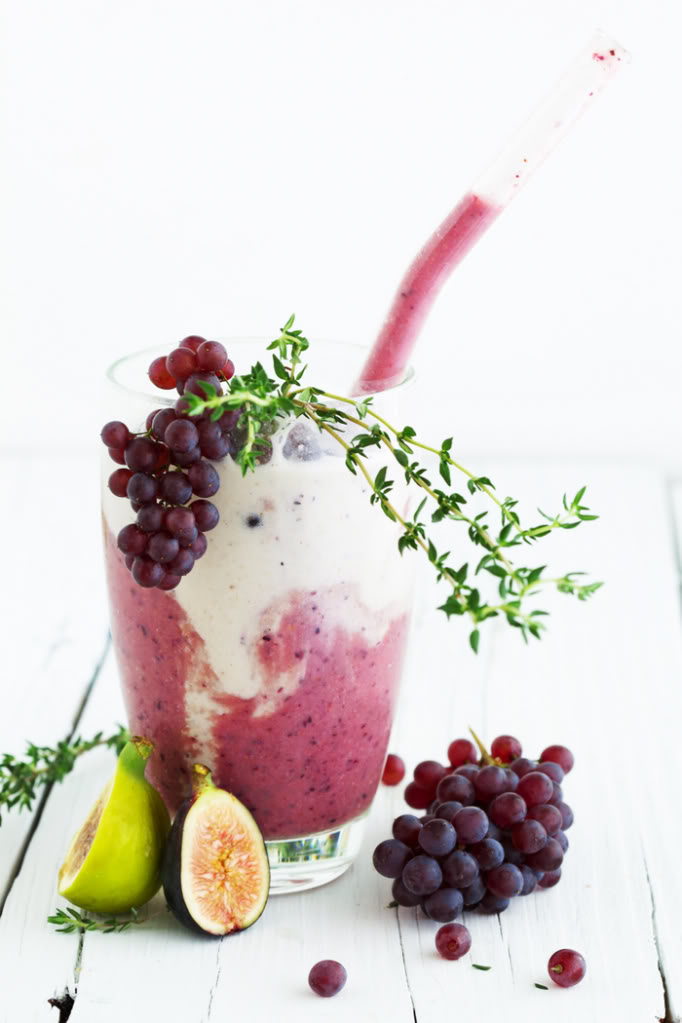 Fig and Grape Oat Milk Smoothie - Golubka Kitchen