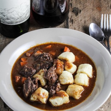 Braised Beef Short Ribs with Potato Gnocchi