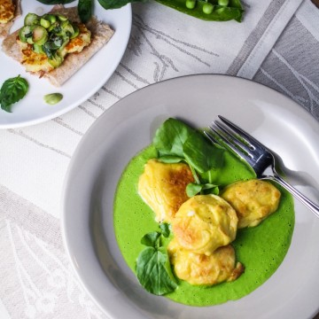 Springtime Sunday Dinner: French Gnocchi with Watercress Sauce {Katie at the Kitchen Door}