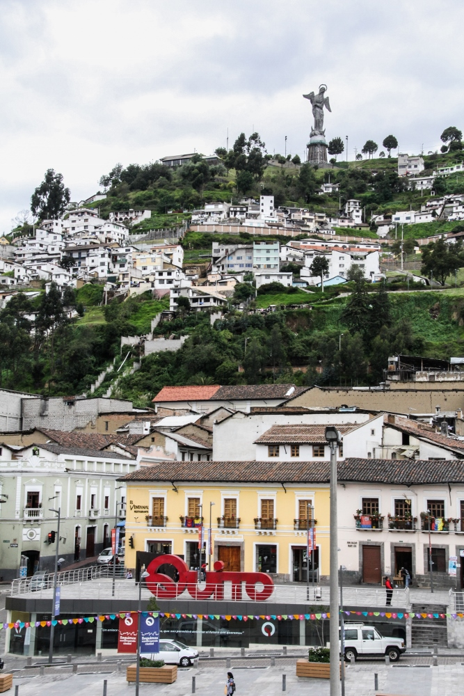 Ecuador Travelogue: Quito - View of La Virgen from Museo de la Ciudad {Katie at the Kitchen Door}