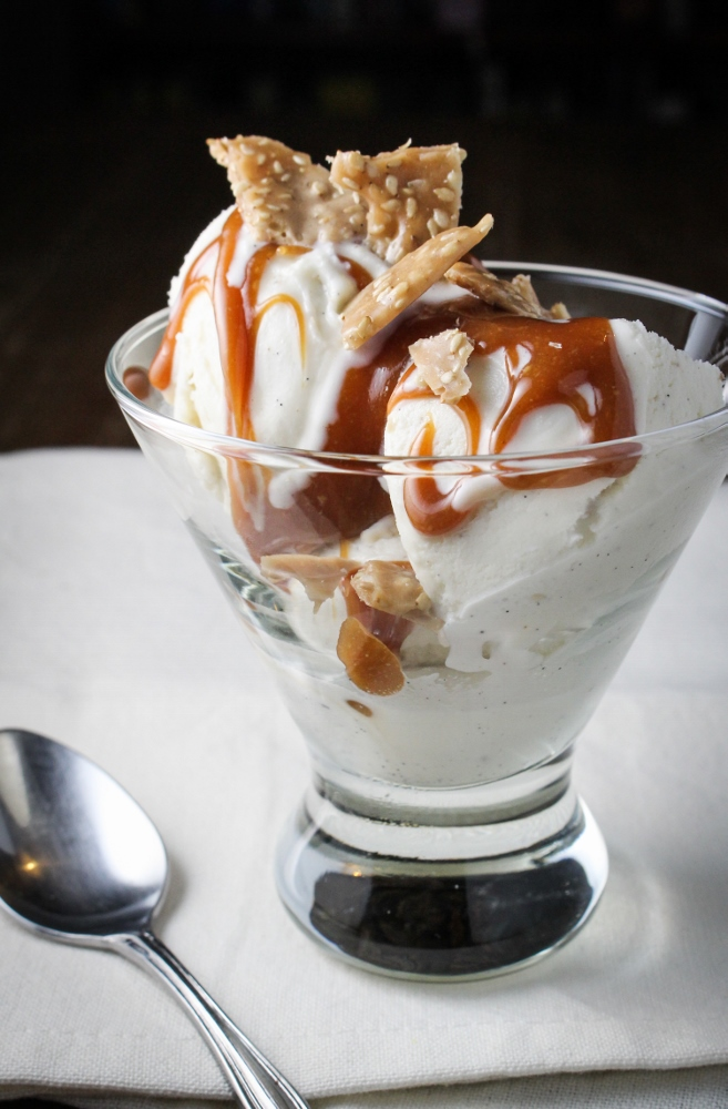 Graeter's New Flavors // Tahini Caramel and Sesame Brittle Sundae