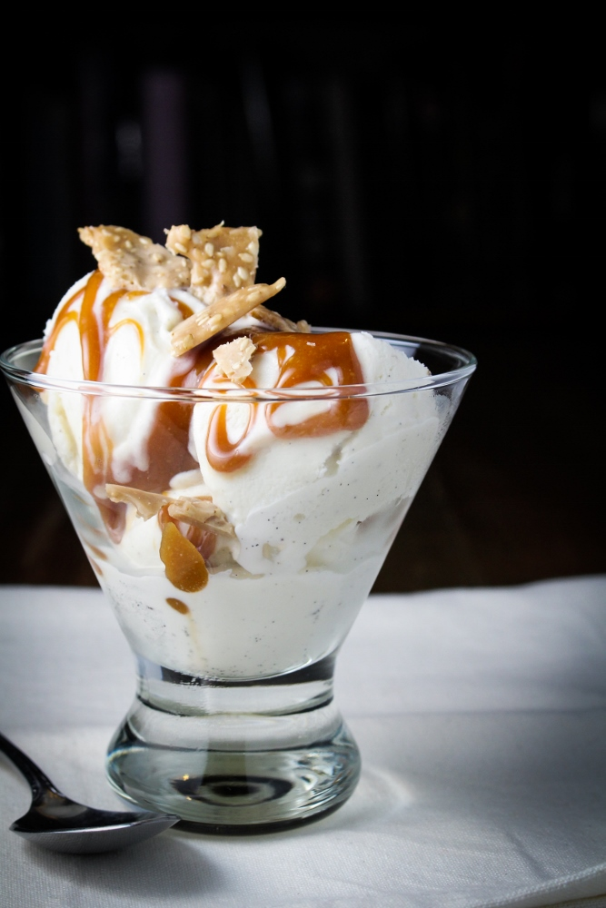Tahini Caramel and Sesame Butter Brittle Sundae {Katie at the Kitchen Door}
