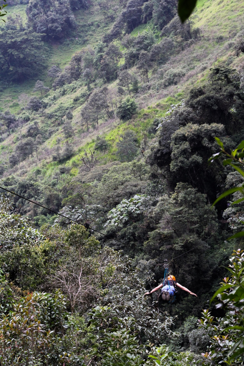 Ziplining, Baños, Ecuador {Katie at the Kitchen Door}