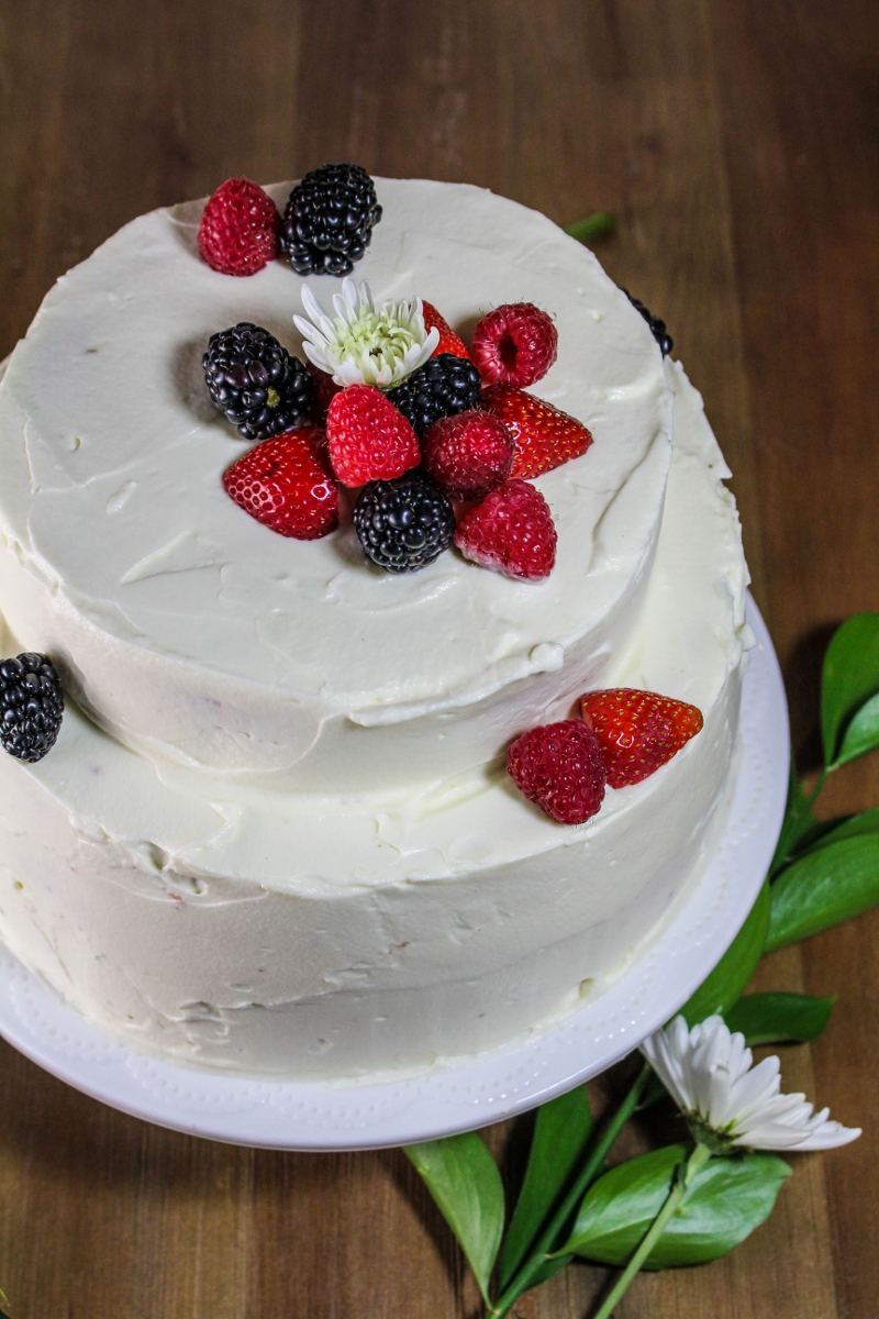 Cake With Cream Frosting : Quarter-Century Celebration // Angel-Food Layer Cake with ...