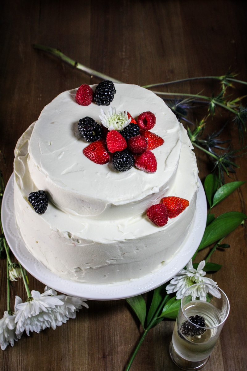 Quarter-Century Celebration // Angel-Food Layer Cake with Whipped Cream Cheese Frosting