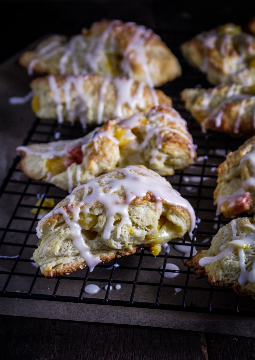 Happy Mother's Day! // Peach Scones with Bourbon Glaze