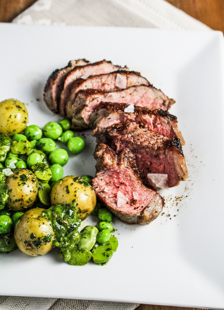 Book Club: Frenchie // Grilled Lamb with Fava Beans, Sweet Peas, and Mint Chutney