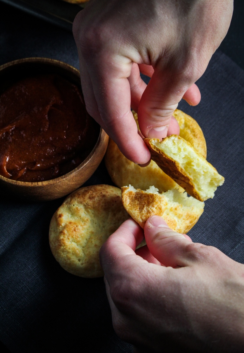 Pan de Yuca with Guava-Chle Butter {Katie at the Kitchen Door}